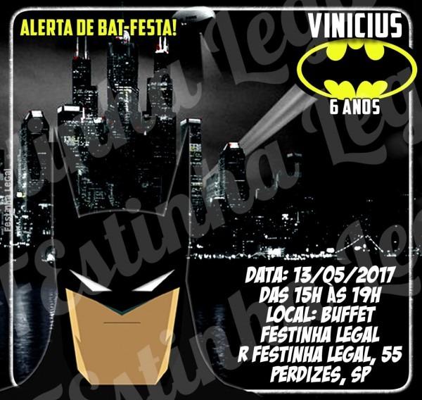 Convite express virtual batman digital no elo7