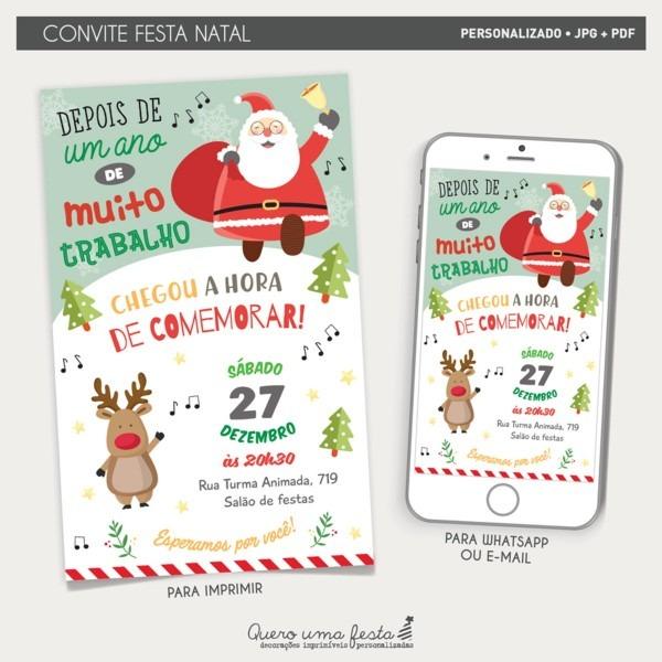 Convite festa natal