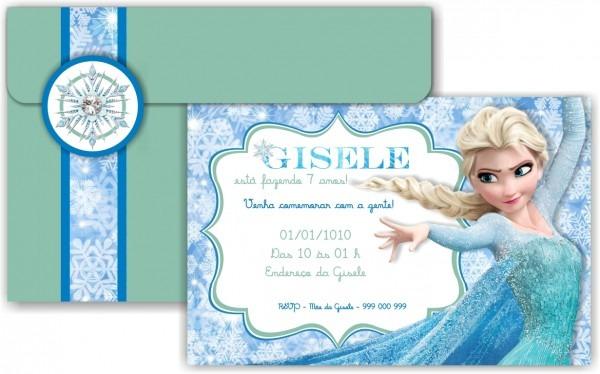 Convite digital frozen elsa no elo7
