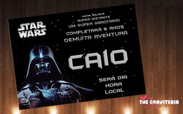 Convite star wars no elo7