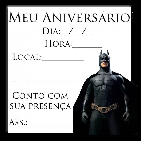 Convite do batman