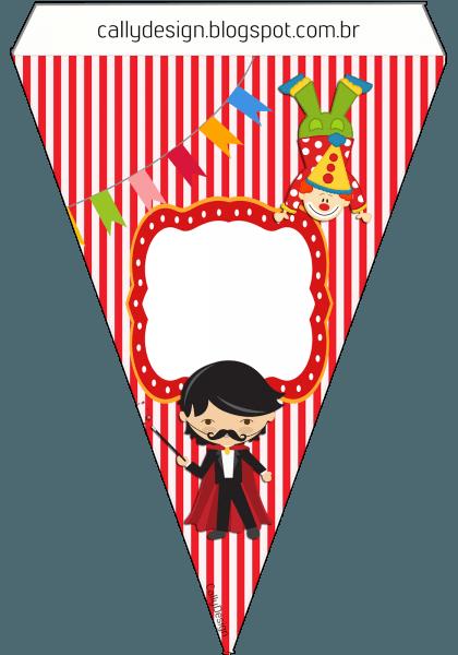 Kit gratuito de aniversário  circo  para imprimir
