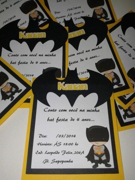 33 convites de aniversário do batman  incríveis! – modelos de convite