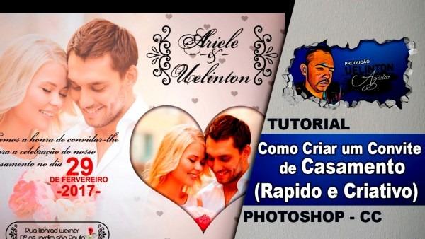 Surpreendente de fazer convite casamento no photoshop efeito adobe