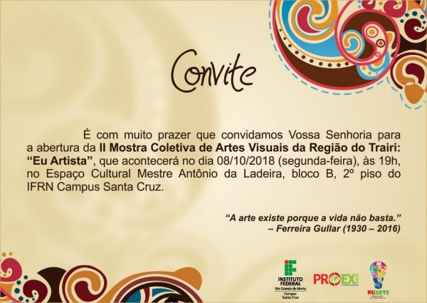 Ifrn promove próxima semana 2ª mostra de artes visuais