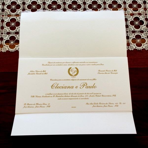 Incr vel convites de casamento tradicionais e elegantes modelos