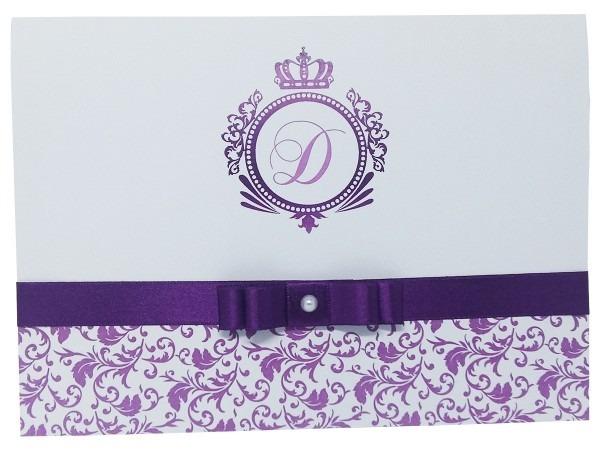 Kit 20 convites personalizado 15 anos lilás debutante