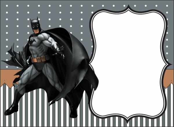 Mimos da marcela  convite do batman
