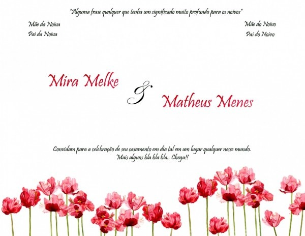 Ltimas convites de casamento prontos para editar e imprimir gratis