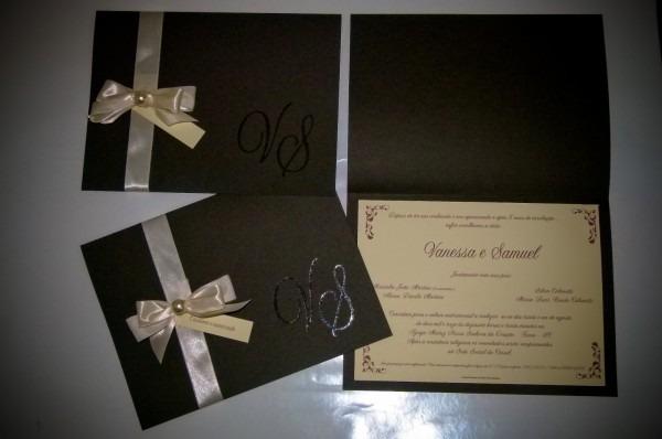 Teksay convites  convite para casamento marrom e marfim