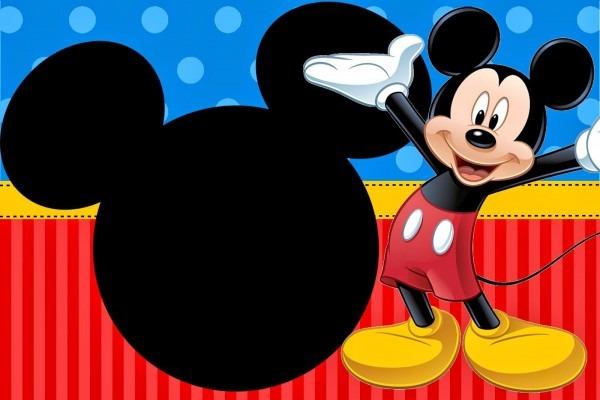 Kit de personalizados tema mickey mouse azul, vermelho e amarelo