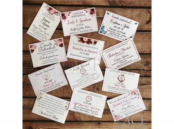 100 convites individual ou lista de presente casamento