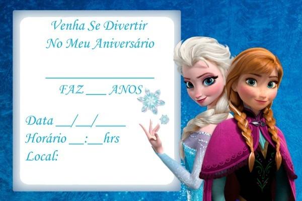 150 convites pronto aniversário convite festa frozen 10x07cm
