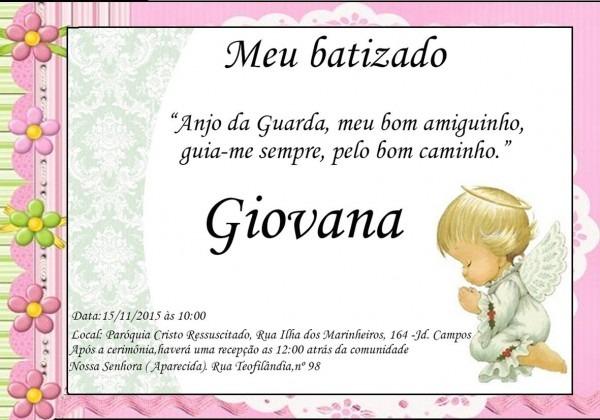 30 convites batizado 7x10 frete gratis para todo brasil