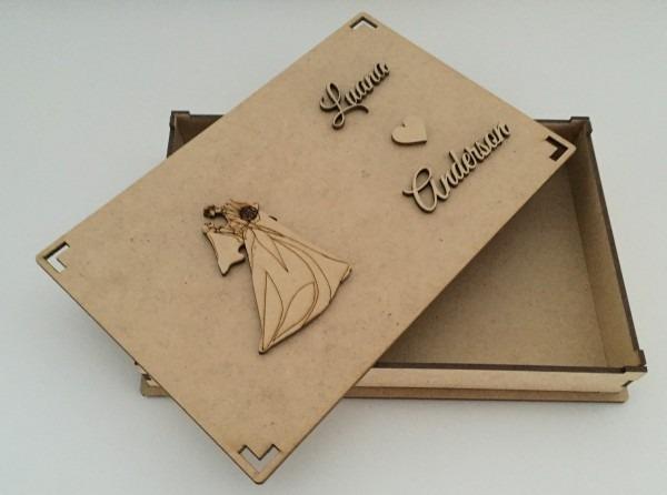 34 caixas convite de casamento padrinhos c  data ou nome