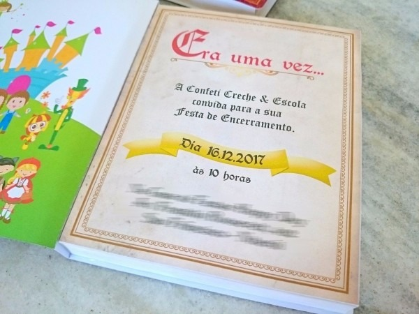 40 convites livro era uma vez (personalizado)