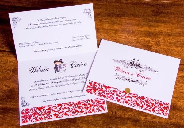 45 convites casamento + 45 individuais