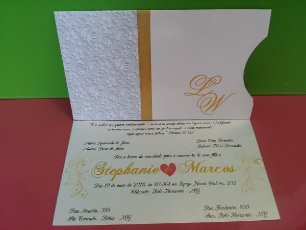 50 convites casamento elegante f1