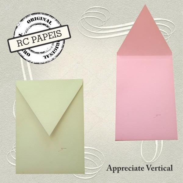50 envelopes para convites appreciate vertical 15 x 21 cm  no elo7