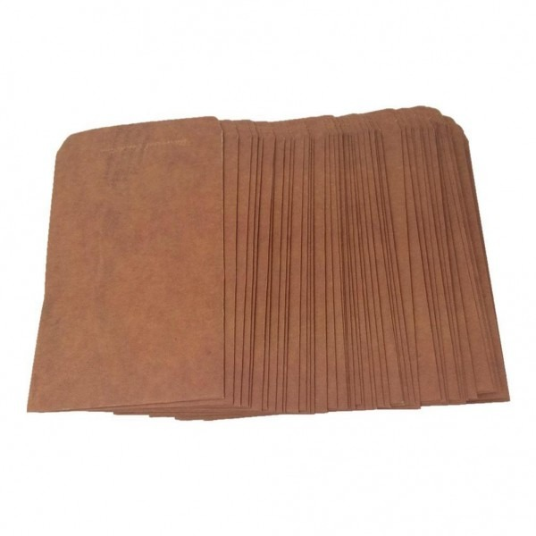 Compre estilo retro envelopes de papel kraft cartão do convite