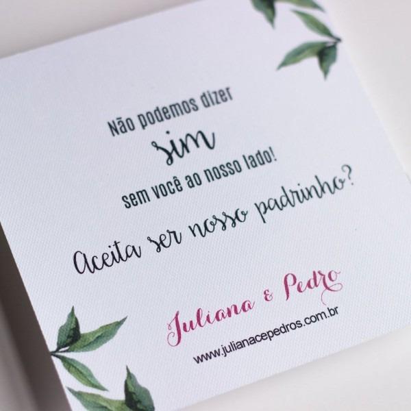 Convites para padrinhos de casamento