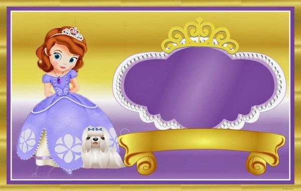 Fazendo a propria festa  kit de personalizados tema princesa sofia
