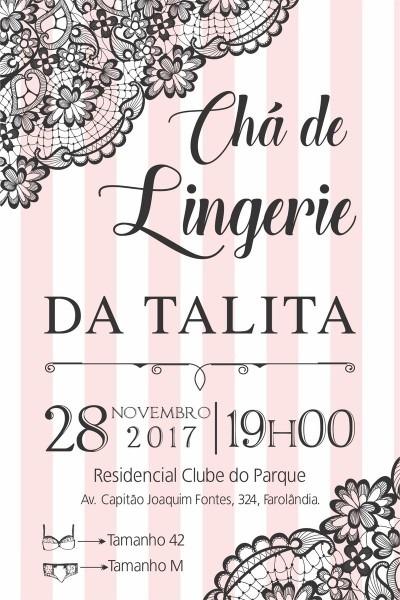 Arte convite digital cha de lingerie no elo7