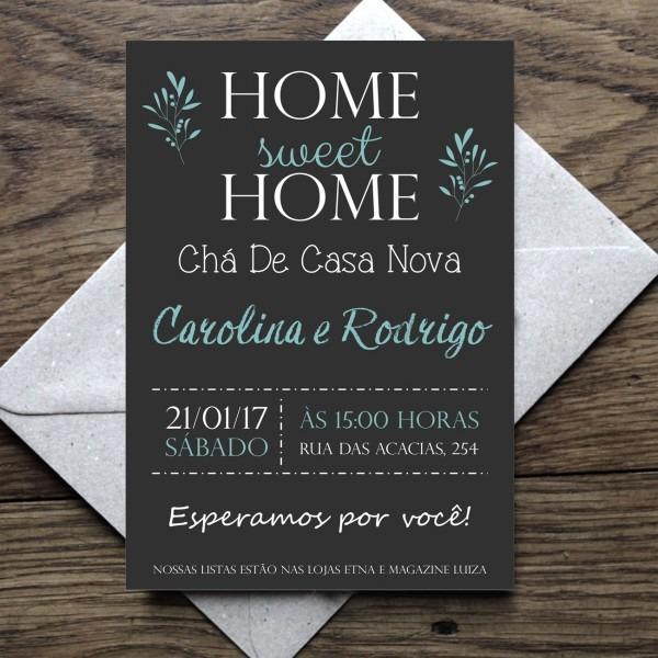 Convite open house   casa nova