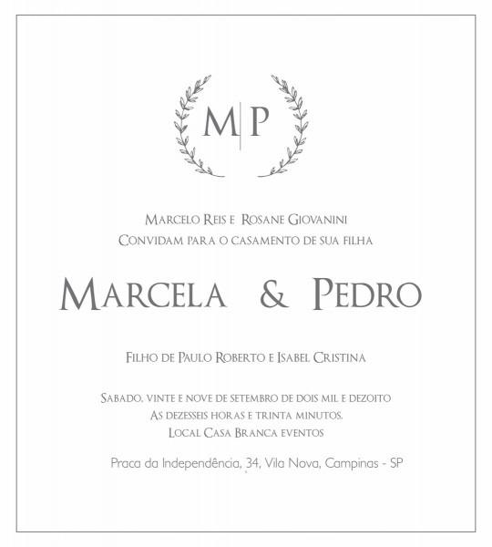 Arte digital para convite casamento com iniciais no elo7
