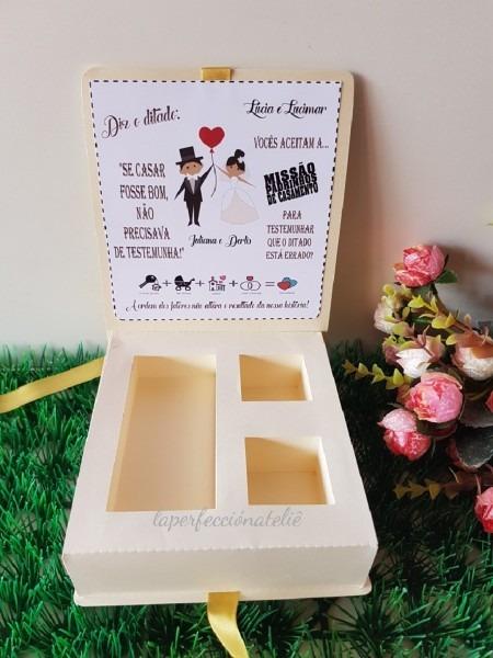 Caixa convite padrinho casamento no elo7