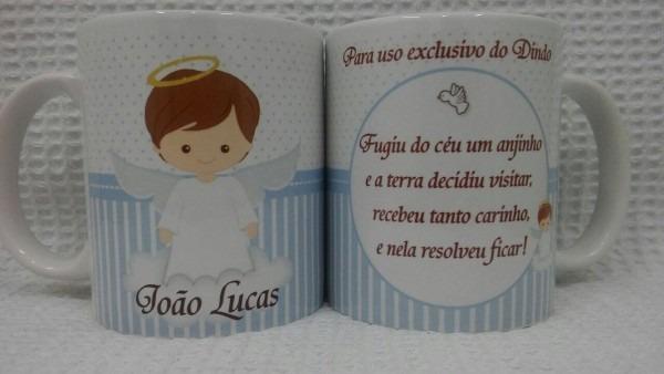 Caneca personalizada de batizado