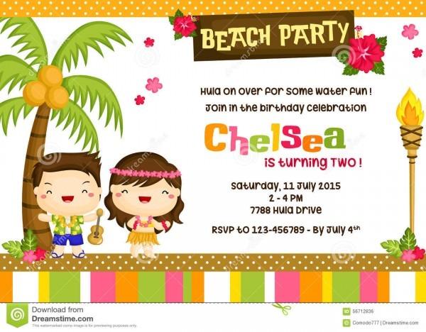 Cartão havaiano do convite ilustração do vetor  ilustração de