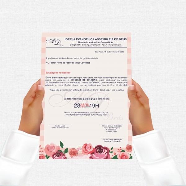 Carta convite para congresso igreja