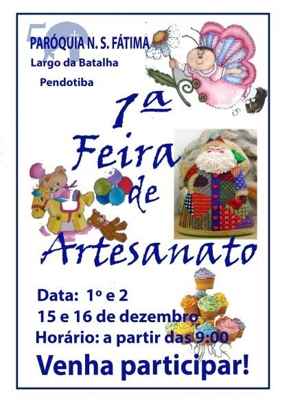 Focus portal cultural  convite 1ª feira de artesanato na parÓquia