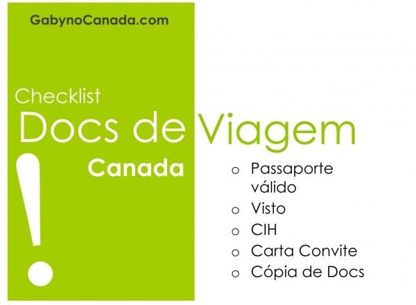 Checklist de documentos de viagem para passear no canadá