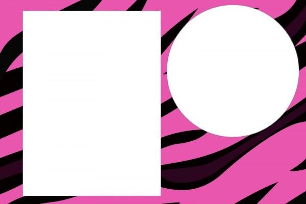 Convites prontos zebra e oncinha pink e preto!