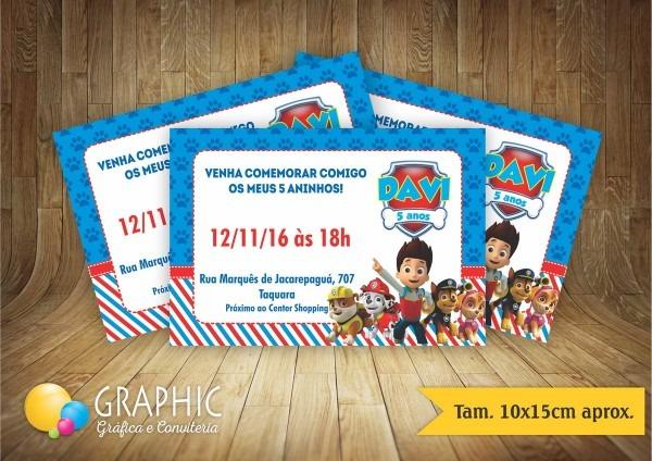 Convite 10x15cm