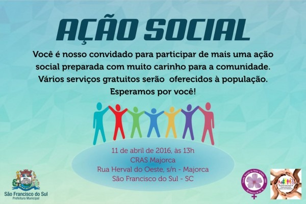 Confira a programação da ação social no majorca