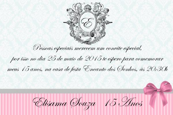 Elisama souza   15anos  faça vocÊ mesmo o convite da sua festa!