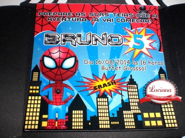 Luciana convites diferentes  convite homem aranha