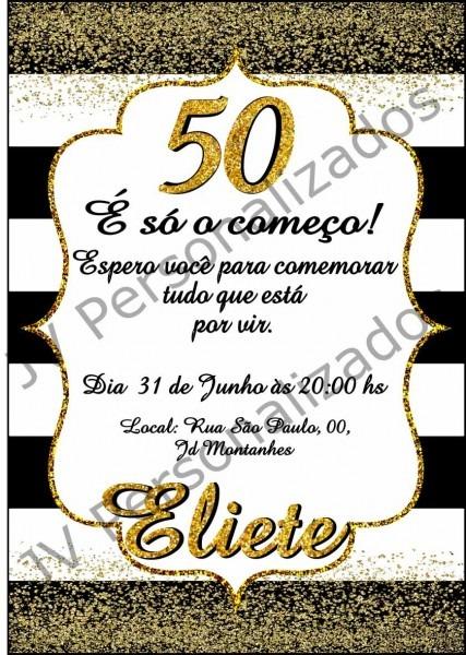 Convite 50 anos digital no elo7