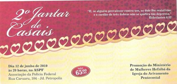 Ministério de mulheres hefzibá  convite