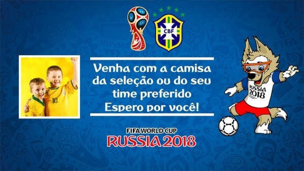 Convite animado copa do mundo russia 2018 aniversário futebo