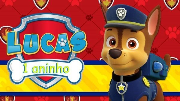 Convite animado patrulha canina no elo7