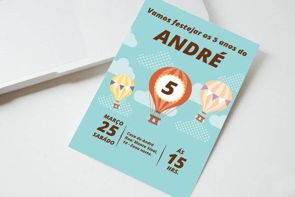 Convite digital balões no elo7