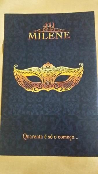Convite aniversário máscara no elo7