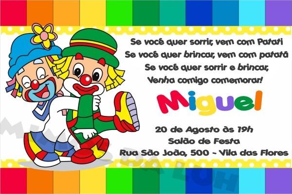 Convite aniversario patati patata 5 » happy birthday world
