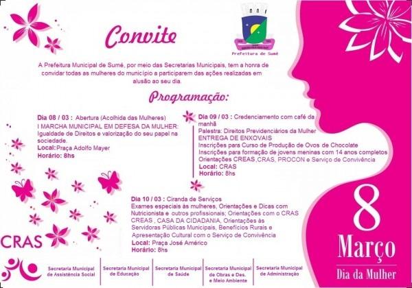 SumÉ pb – prefeitura comemora dia internacional da mulher