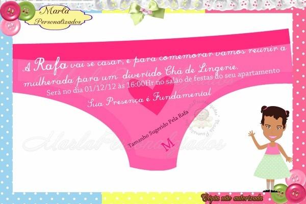 ee0cd0160 Convite calcinha chá de lingerie no elo7
