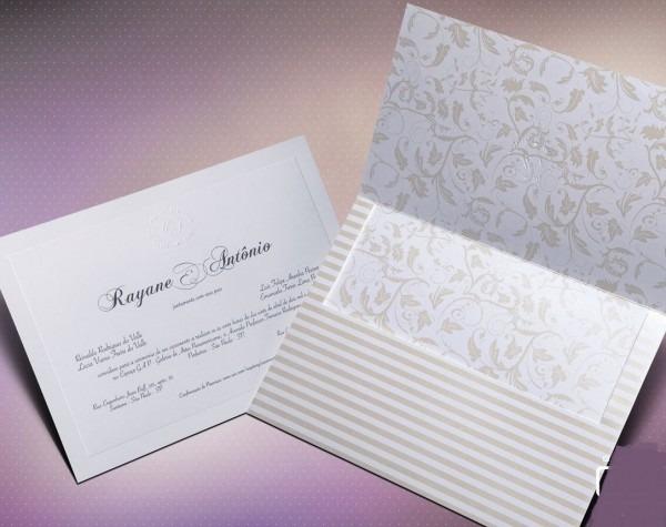 Convite casamento elegante no elo7